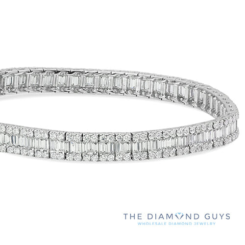 bangles white gold bangle bracelet baguette diamond