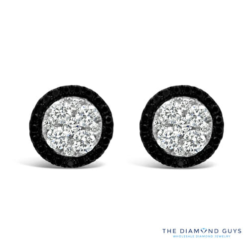 Diamond And Black Earrings The Guys Collection