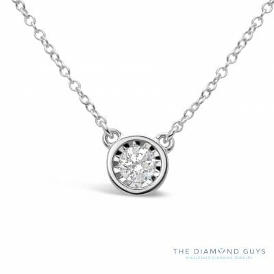 Necklaces and pendants archives page 2 of 3 the diamond guys diamond solitaire necklace the diamond guys collection mozeypictures Images