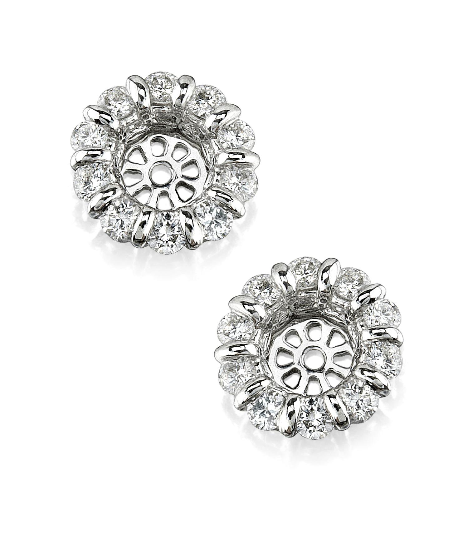 Diamond Earring Diamond Earring Jackets - The Diamond Guys