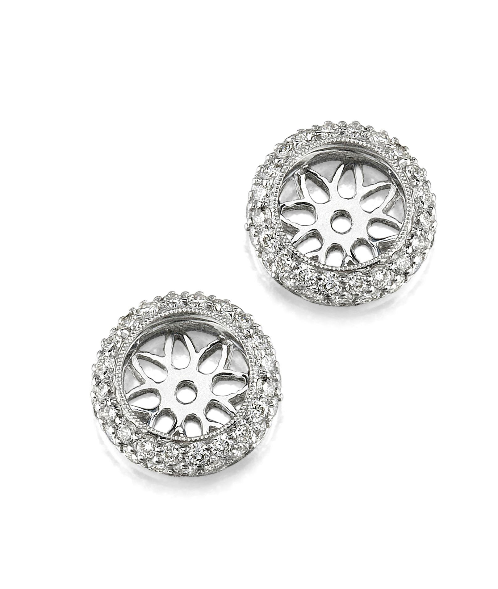 Earring Diamond Earring Jackets - The Diamond Guys
