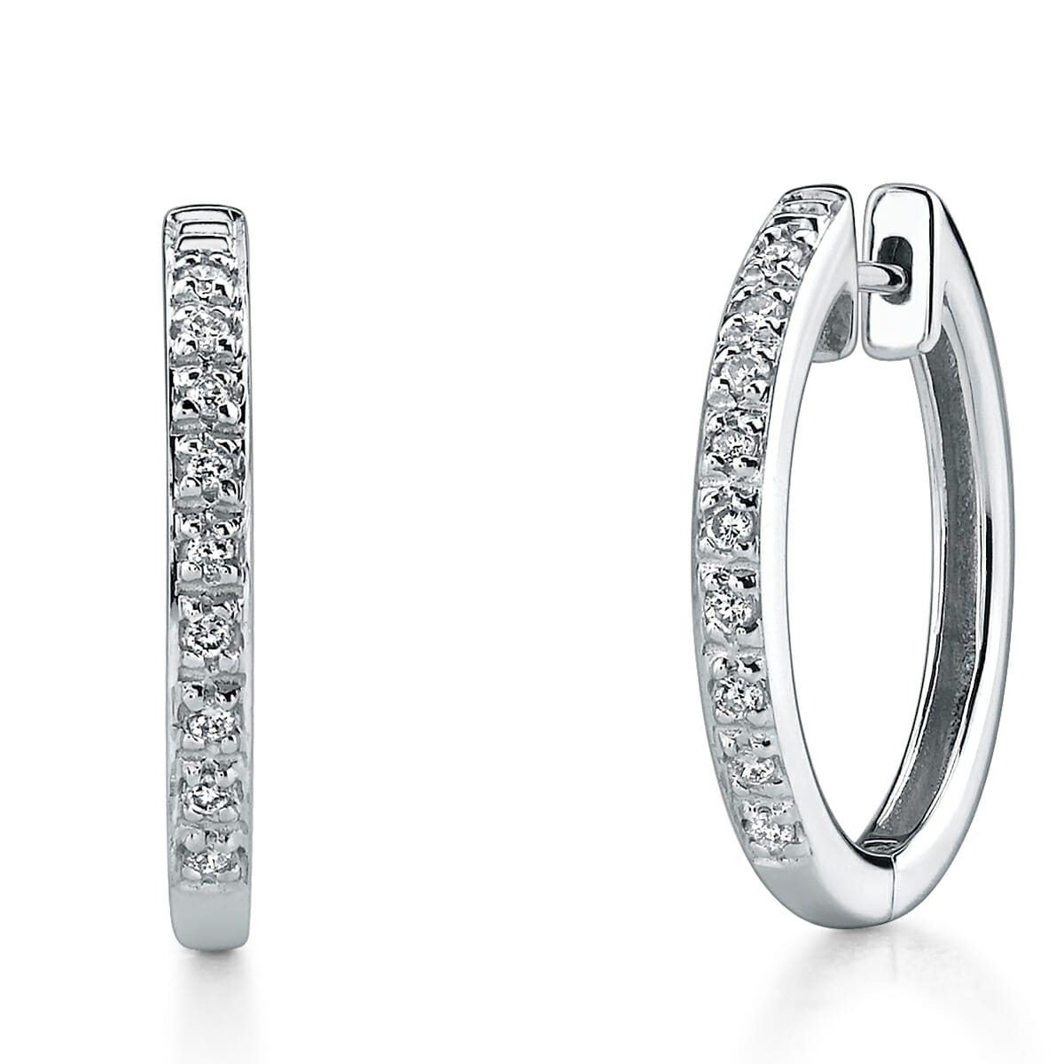 Diamond Hoop Earrings The Guys Collection