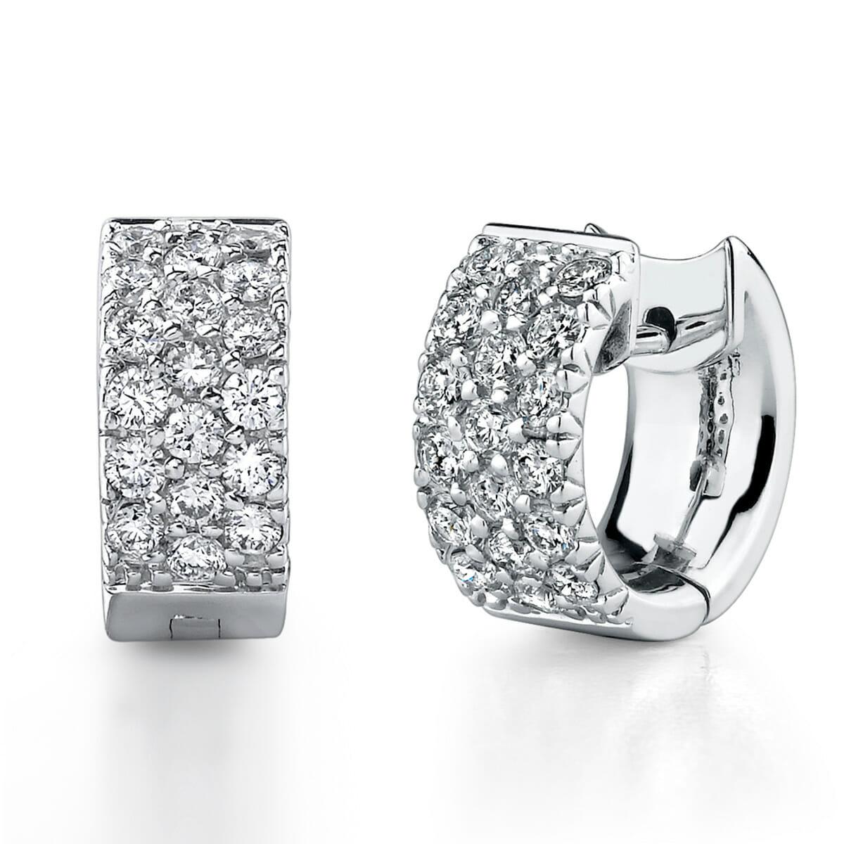 Diamond Hoop Earrings The Guys Collection