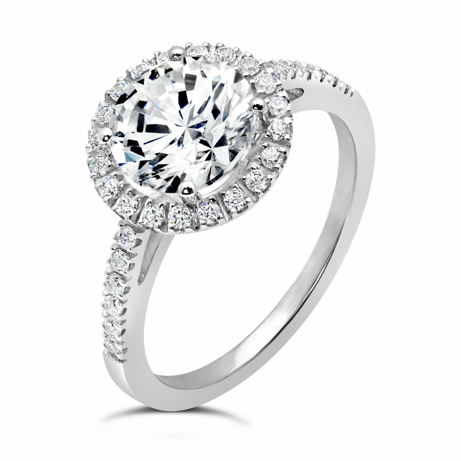 selezionare per lo spazio ultimo design colore veloce Diamond Halo Engagement Ring - Il Sole Gioielli Collection