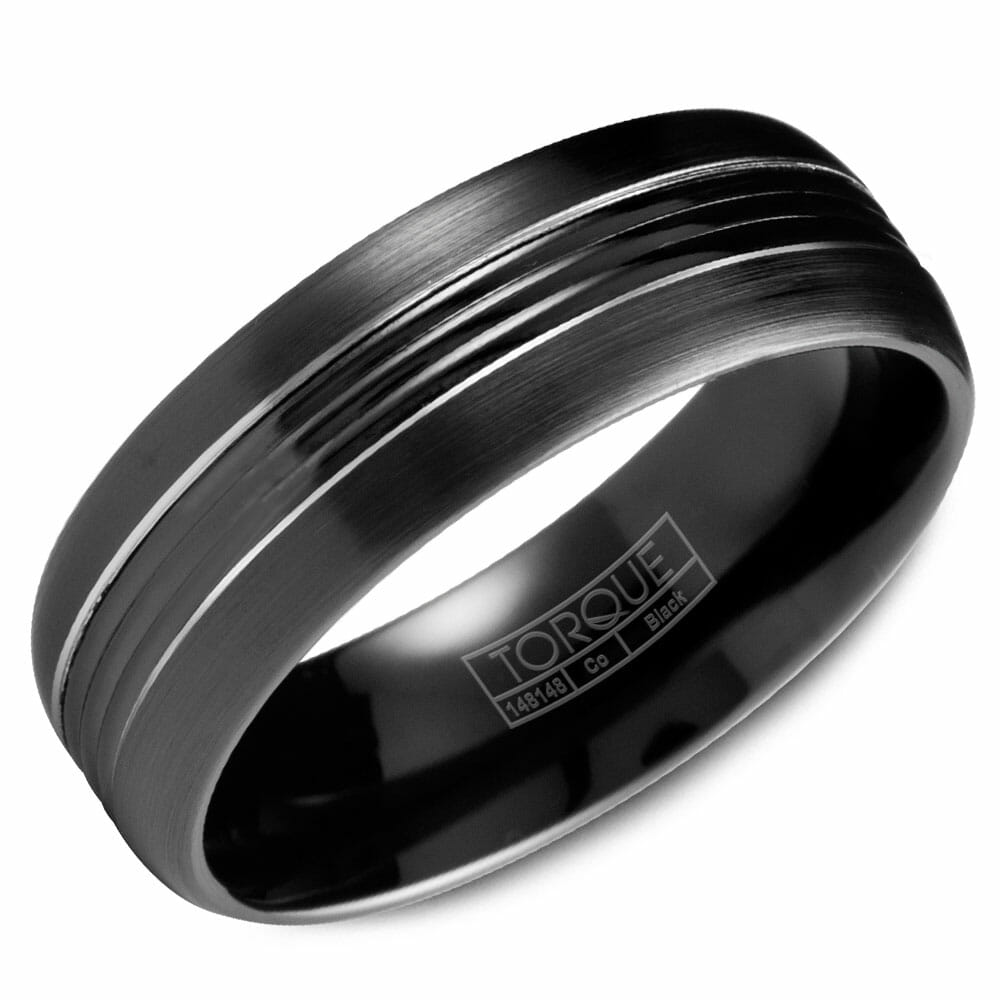 Mens Cobalt Wedding Band Crown Ring Collection The Diamond Guys