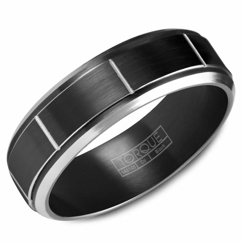 Cobalt Mens Wedding Band Crown Ring Collection