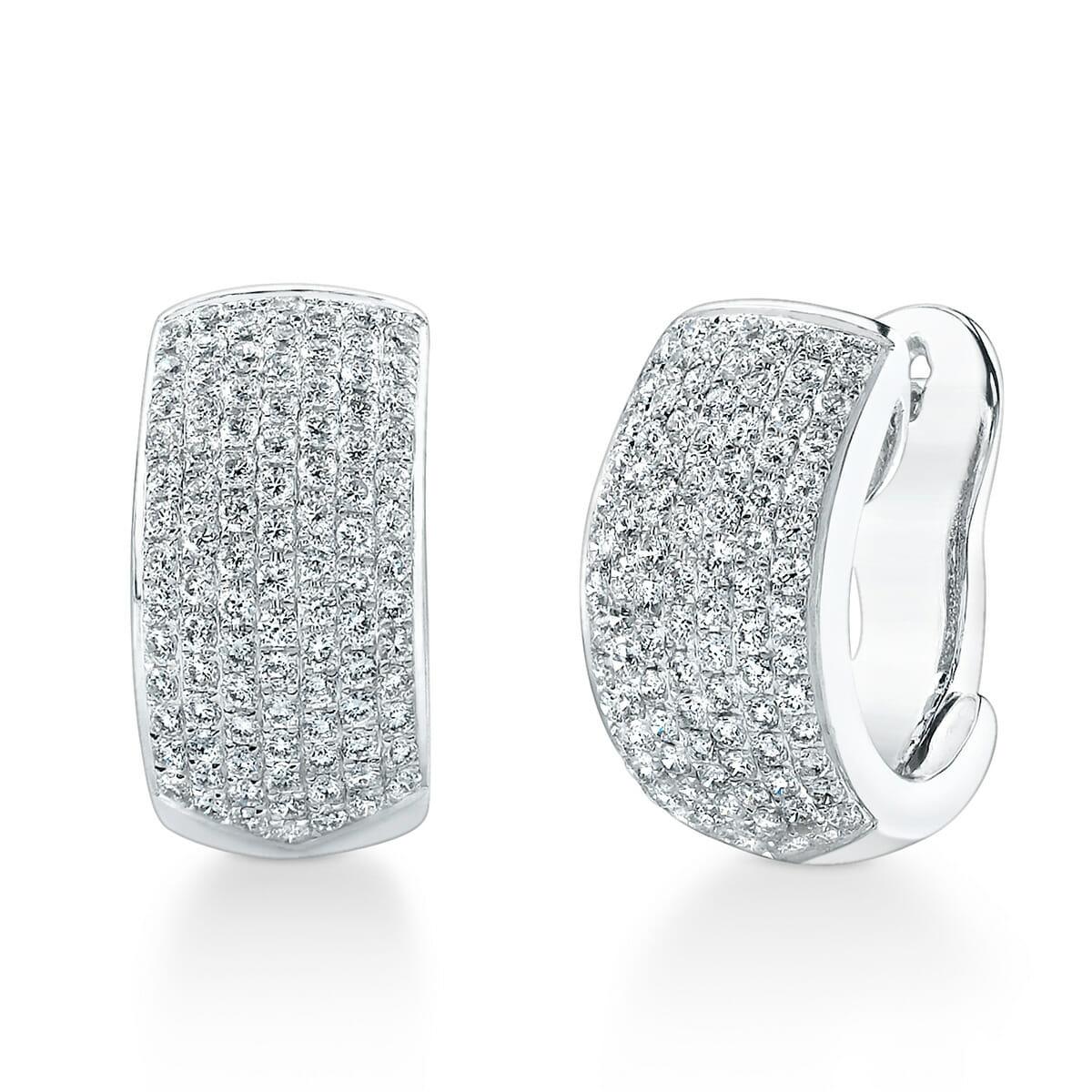 b5fa6abea52db Diamond Huggie Earrings