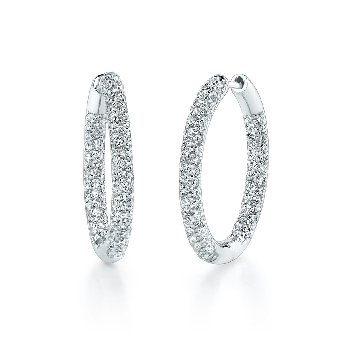 Diamond Hoop Inside Outside Earrings The Guys Collection
