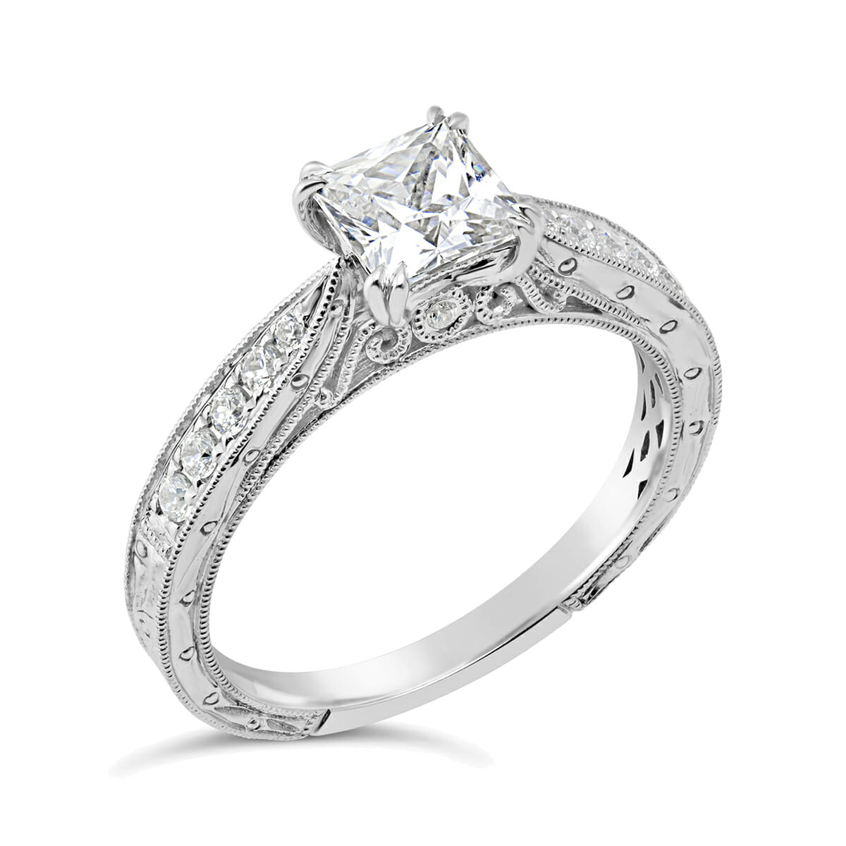 Vintage Inspired Diamond Engagement Ring , The Diamond Guys Collection