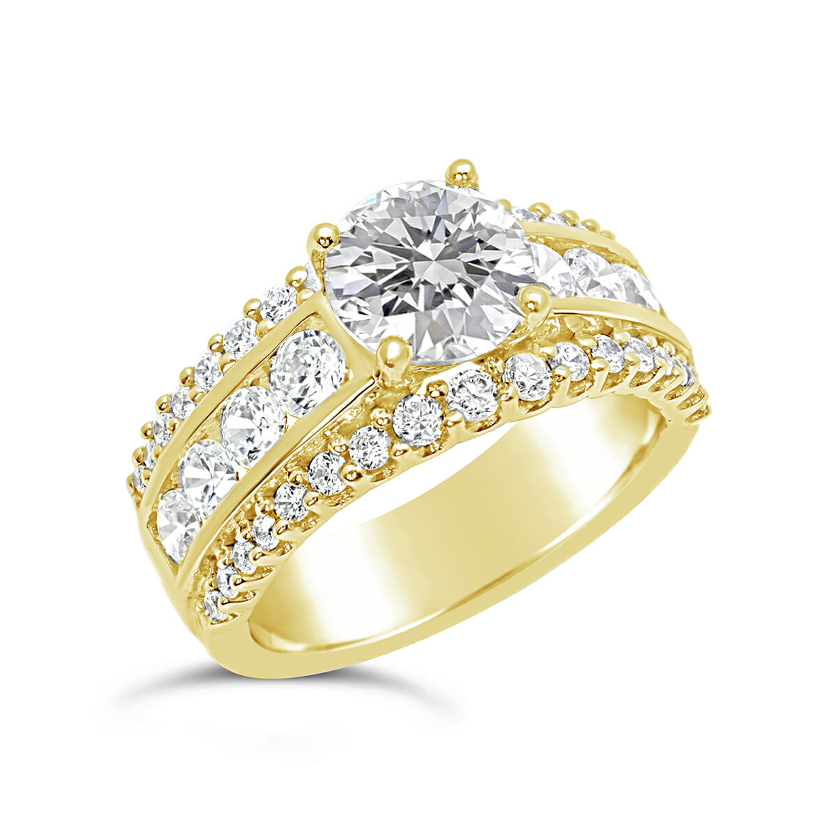 channel brilliant total claw open round shape white approx with shoulders weight set v gold solitaire diamond