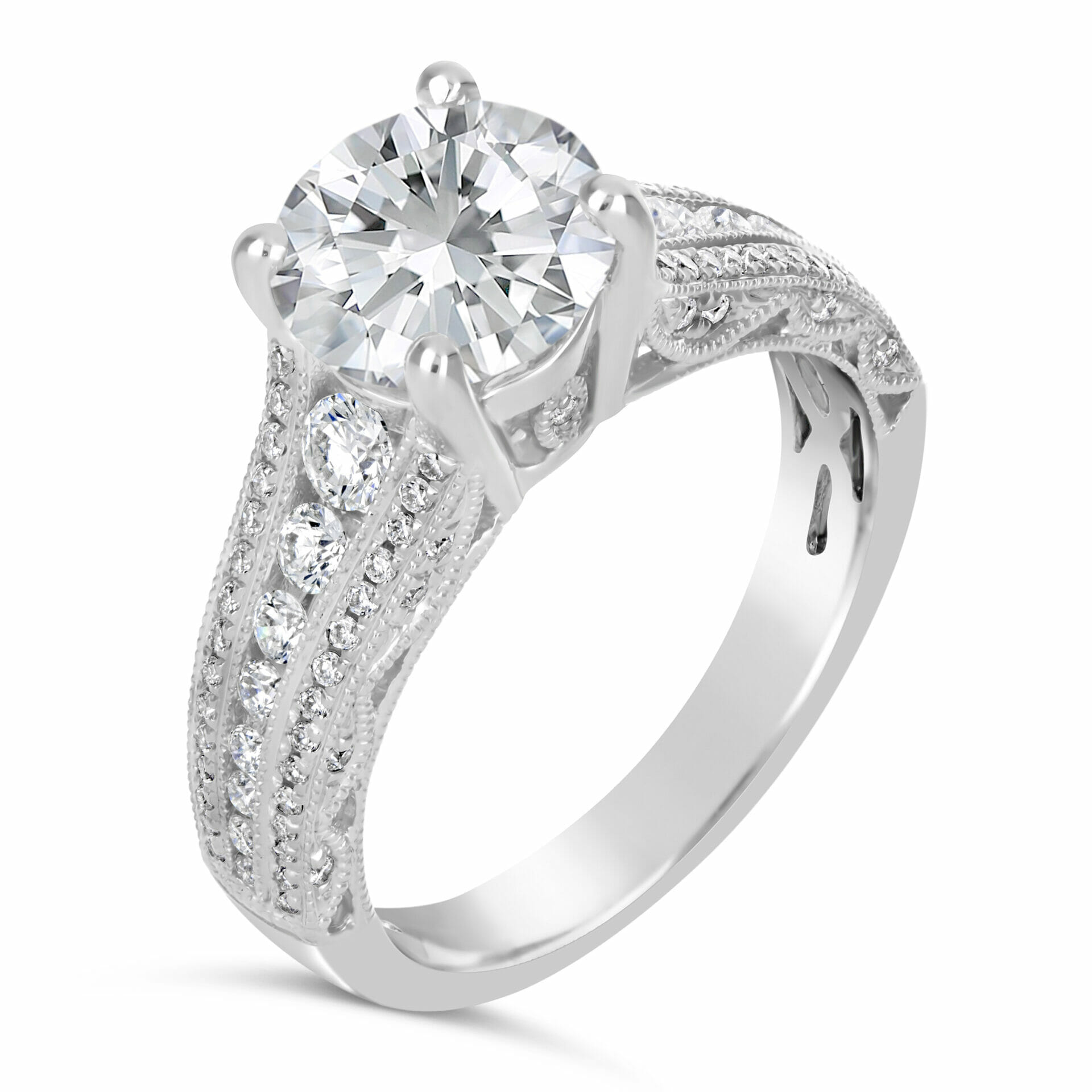 Vintage Style Diamond Engagement Ring , The Diamond Guys Collection