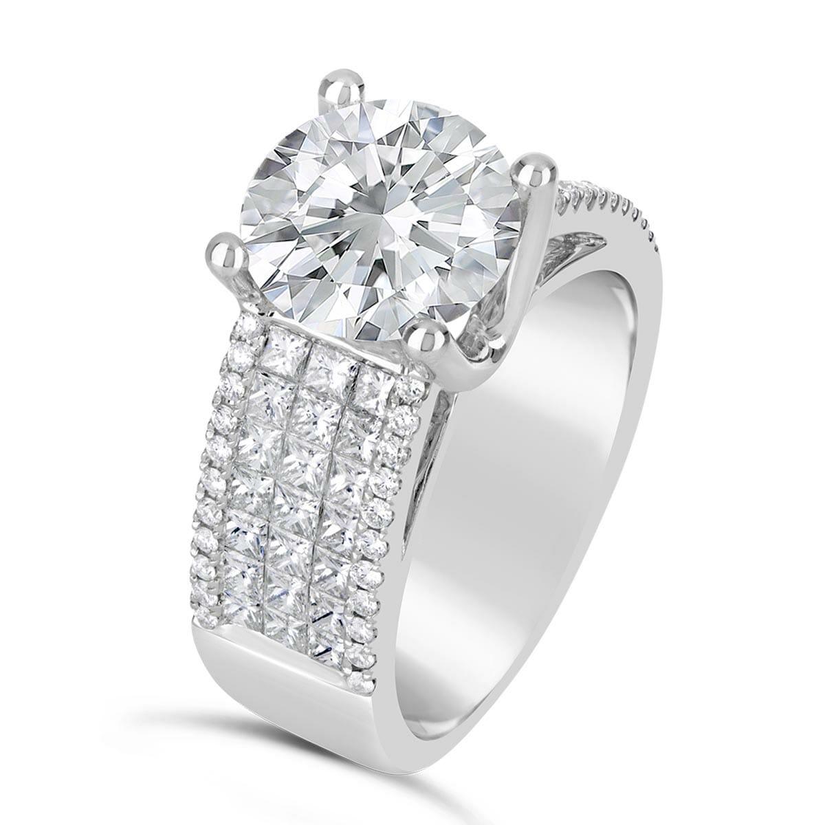 Wide Band Diamond Engagement Ring The Diamond Guys Collection The Diamond Guys