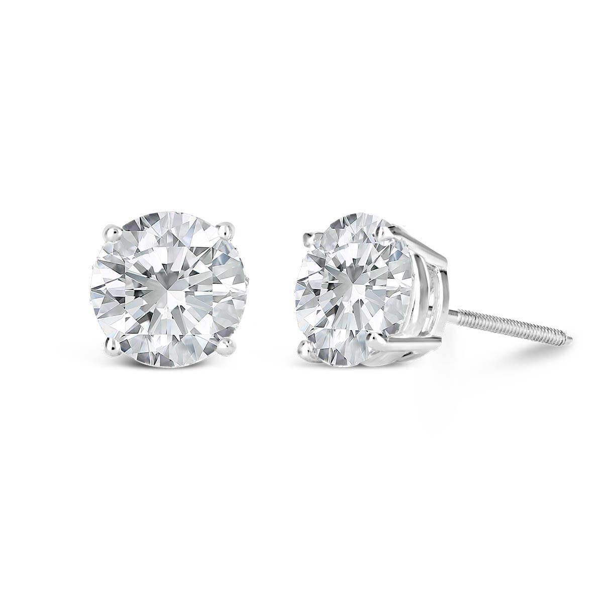 CDB5 Fashion Individuality Men/'S Diamond Earrings Ear Stud Jewelry Gifts White