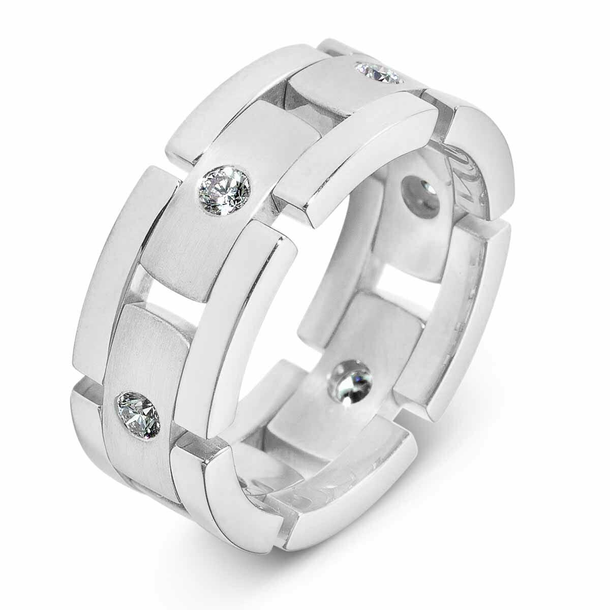 Mens Fexible Diamond Wedding Band Dora Collection The Diamond