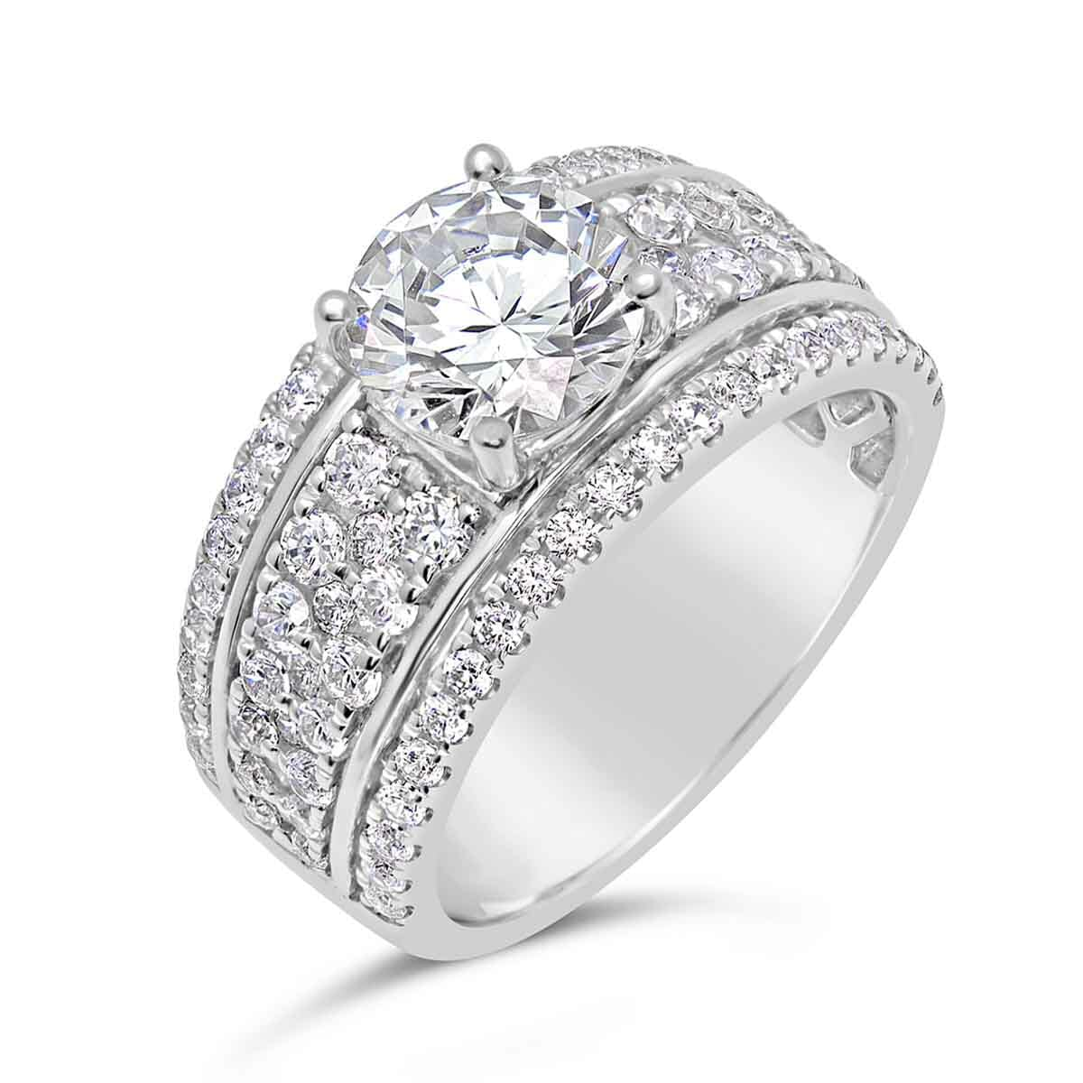Diamond Engagement Ring With Wide Band The Diamond Guys Collection The Diamond Guys