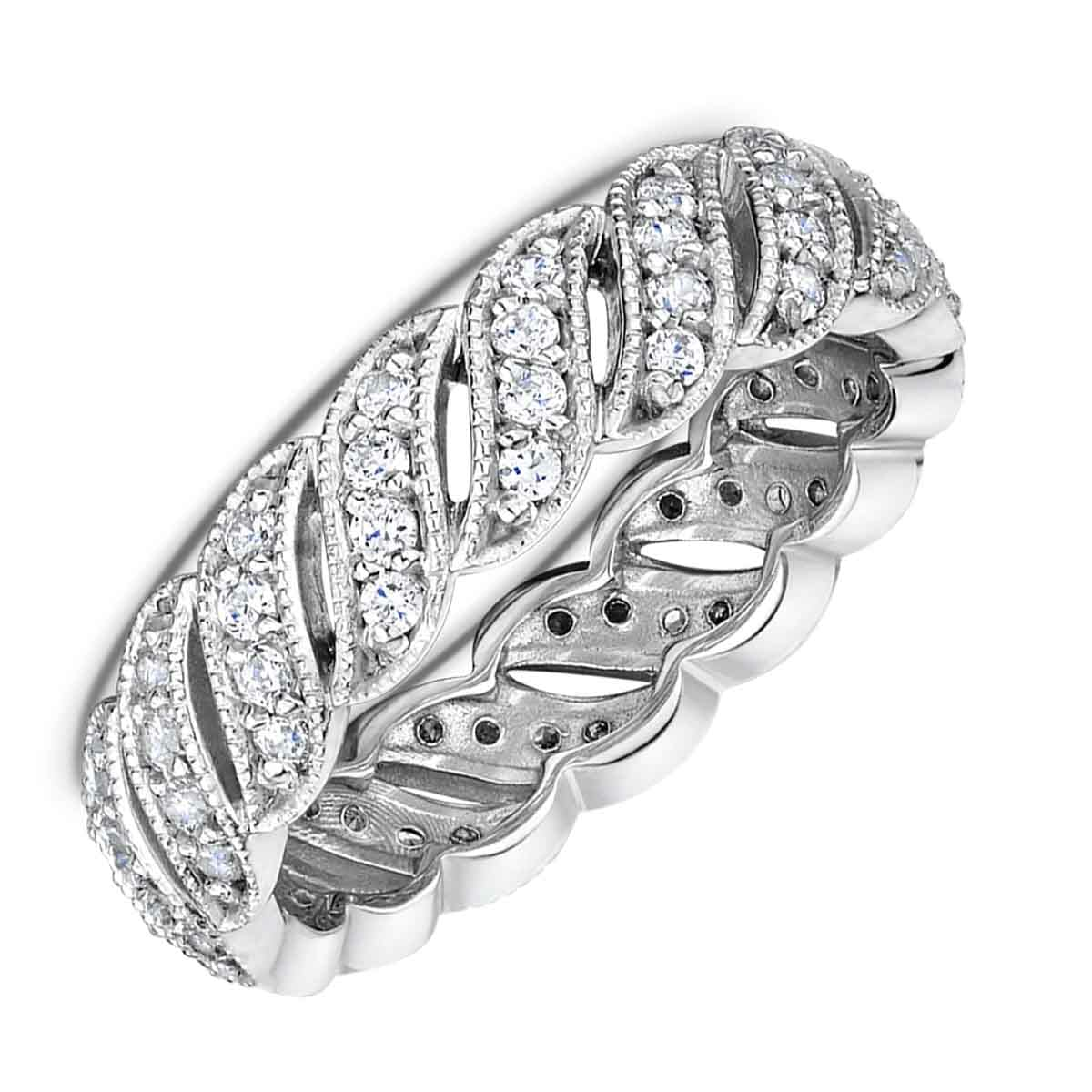 It is a graphic of Ladies Diamond Eternity Wedding Band - Dora Collection